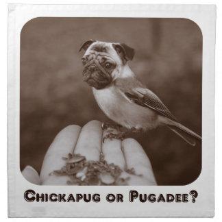 Rolig Sepia Chickapug eller Pugadee? Servett