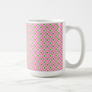 Rolig shock rosakricka och mjukt rosa kaffemugg
