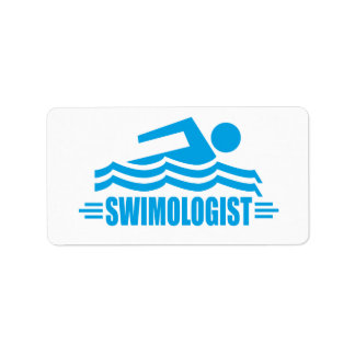 Rolig simning adressetikett