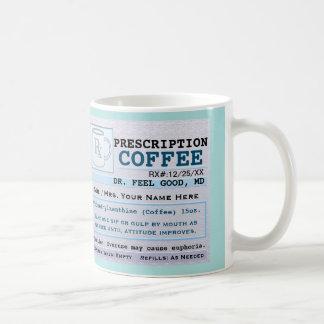 Rolig sjukhusgrönt för recept RX Kaffemugg