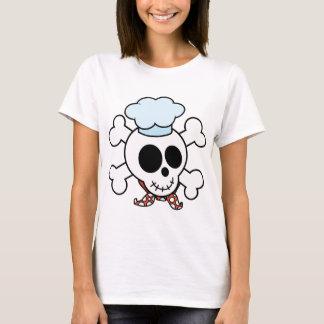 Rolig skalle- och Crossboneskock T-shirts