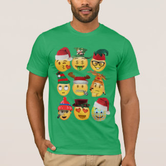 rolig skjorta-design för julemojisamling tröjor