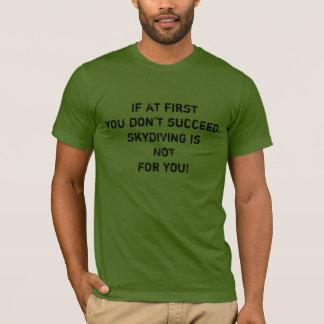 Rolig Skydiving T skjorta Tee Shirts