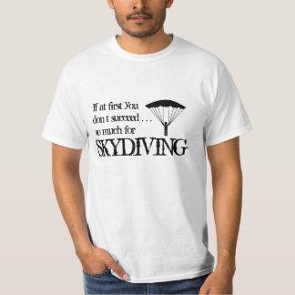 Rolig Skydiving T-tröja T-shirts