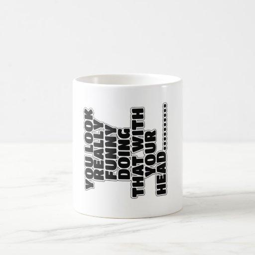 Rolig slogan kaffe muggar
