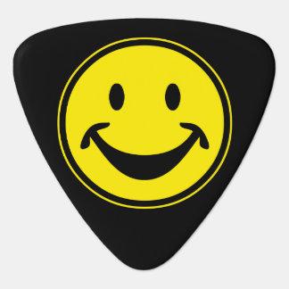 Rolig Smileygult + din backg. & idéer Plektrum