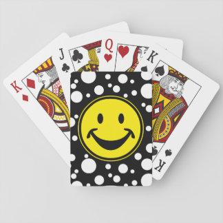 Rolig Smileygult & pricker + din backg. & idéer Casinokort