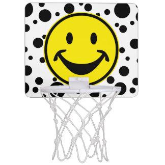Rolig Smileygult & pricker + din backg. & idéer Mini-Basketkorg
