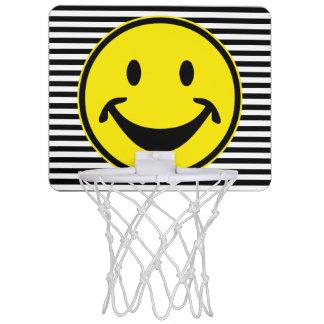 Rolig Smileygult & randar + din backg. & idé Mini-Basketkorg