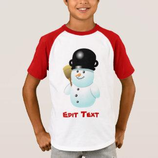 Rolig snögubbe med morotnäsan t shirts