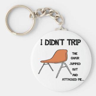 Rolig snubbla stol rund nyckelring