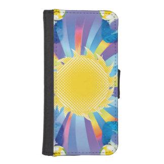 Rolig sommarsol plånboksfodral för iPhone SE/5/5s