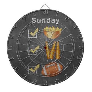 Rolig söndagfotbollkontrollista dart tavla