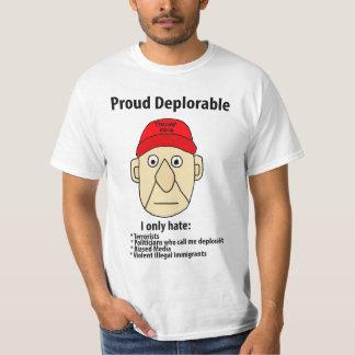 Rolig stolt beklagansvärd politisk tecknad t-shirt