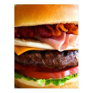 Rolig stor hamburgare vykort