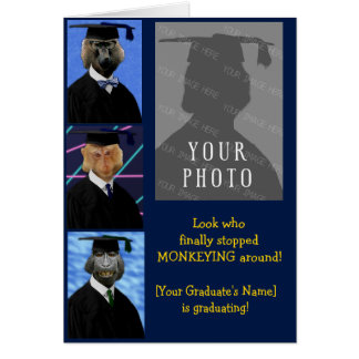 Rolig studentenapapersonlig Annoucement Hälsningskort