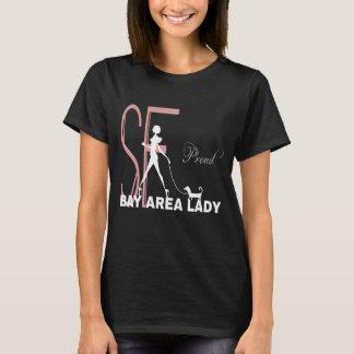 Rolig svart för stolt fjärdområdesdam t shirt