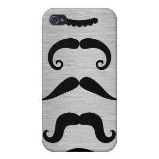 Rolig svart mustaschstilar iPhone 4 skydd