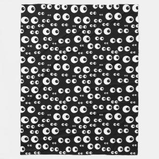 Rolig svartvit filt för ögonglobdesignull
