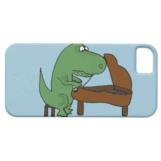 Rolig T-Rex Dinosaur som leker pianot iPhone 5 Skal