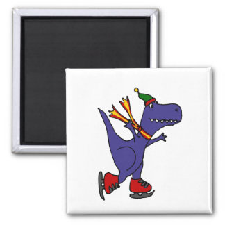 Rolig T-Rex Dinosaurskridskoåkning Magnet