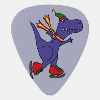 Rolig T-Rex Dinosaurskridskoåkning Plektrum