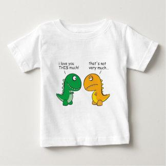 rolig-T-Rex-lite-ärmar-tecknad Tee Shirt