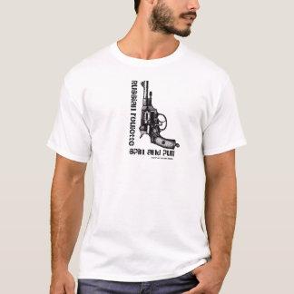 Rolig t-skjorta för rysk revolver för roulett t shirt