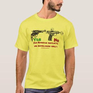 Rolig t-skjorta för rysk roulett design tee