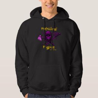Rolig t-skjorta för Viking skalle Sweatshirt Med Luva