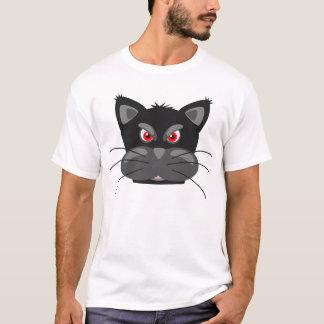Rolig T-tröja för Grumpy svart katttecknad Tshirts