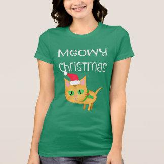 Rolig T-tröja för julkattungeälskare Tee