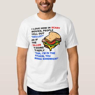 Rolig T-tröja för läskiga filmhejer Tee