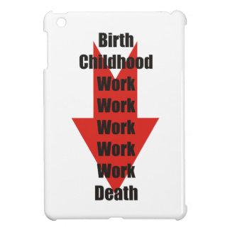 Rolig take på födelse, arbete och död iPad mini mobil skal