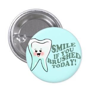 Rolig tandhygienist mini knapp rund 3.2 cm