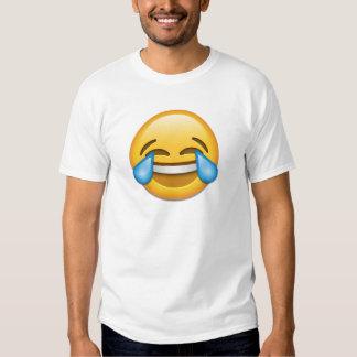 Rolig tårar av glädjeemojien tshirts