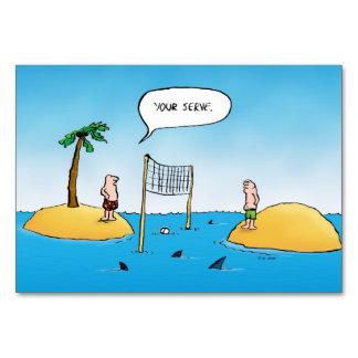 Rolig tecknad för hajvolleyboll bordsnummer