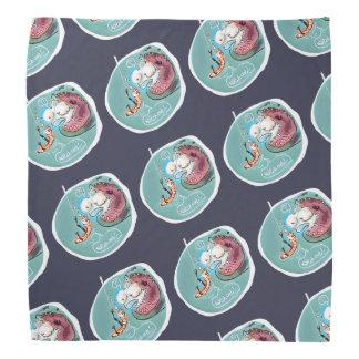 rolig tecknad för hjälpsam fishbaitdaggmask scarf