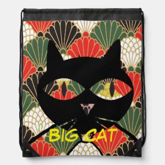 Rolig tittar kattDrawstringryggsäck Gympapåse