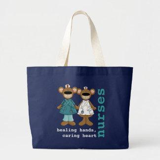 Rolig tote bags för nallesjuksköterskadesign