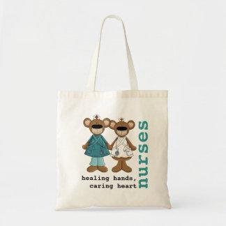 Rolig tote bags för nallesjuksköterskadesign tygkasse