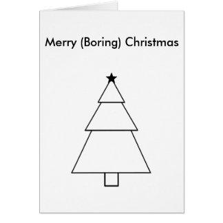 Rolig tråkig julkort hälsningskort