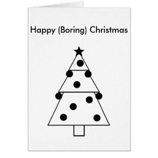 Rolig tråkig lycklig julkort hälsningskort