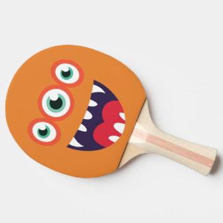Rolig Tre-Synad gullig Monster. Pingisracket
