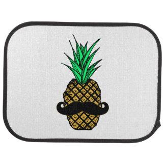 Rolig tropisk ananas med mustasch bilmatta
