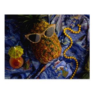 Rolig tropisk kall ananas vykort