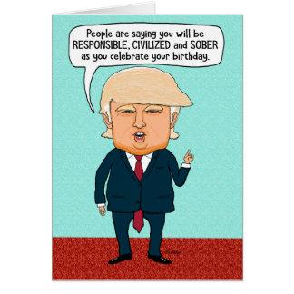 Rolig trumf fejkar nyheternafödelsedag hälsningskort