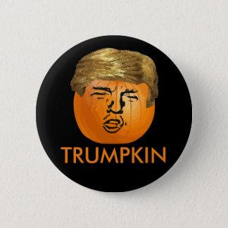 Rolig trumfHalloween Trumpkin pumpa Standard Knapp Rund 5.7 Cm