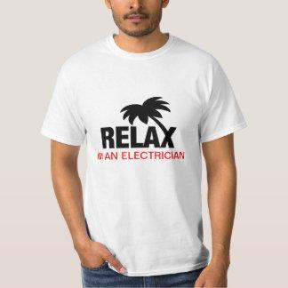 Rolig tshirt för elektriker tee shirt