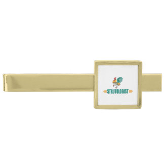 Rolig tupp slipsnål med guldfinish